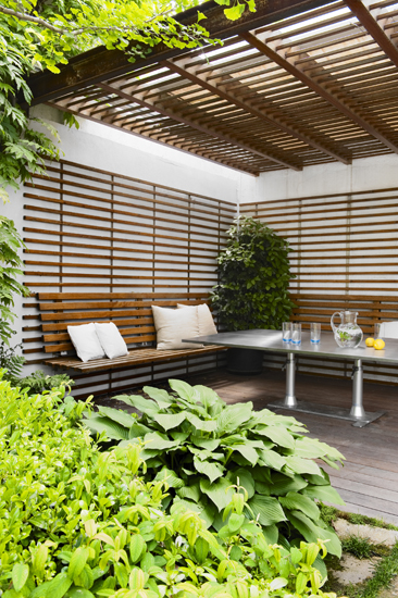 Outdoor room with seating