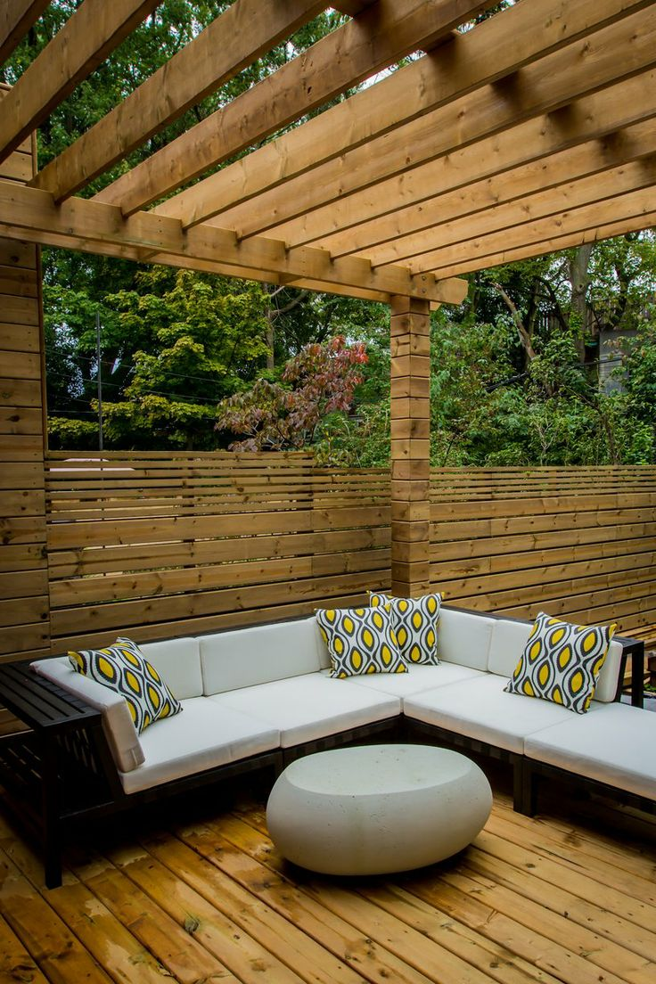Outdoor seating with pergola