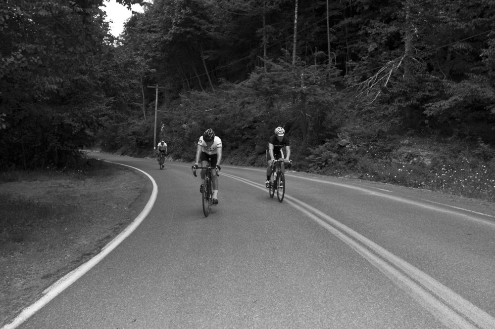 The uphill: the most poetic portion of the hunt. The suffering: the most spiritual section of the ride. It hurts, it teaches, you want it to be over, and then it is and you want to go again. Funny.