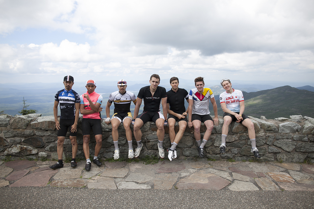 The ride culminated at the top of Whiteface Mountain, New York's highest peak. After one of the hardest, longest climbs any of us had taken at that point, we reached the top. We talked about the view from the summit.