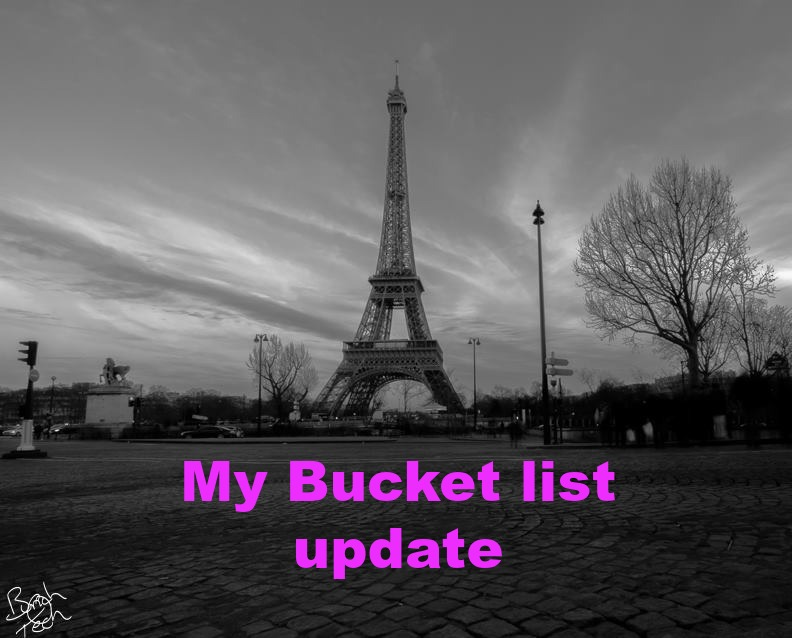 Updated Bucket List