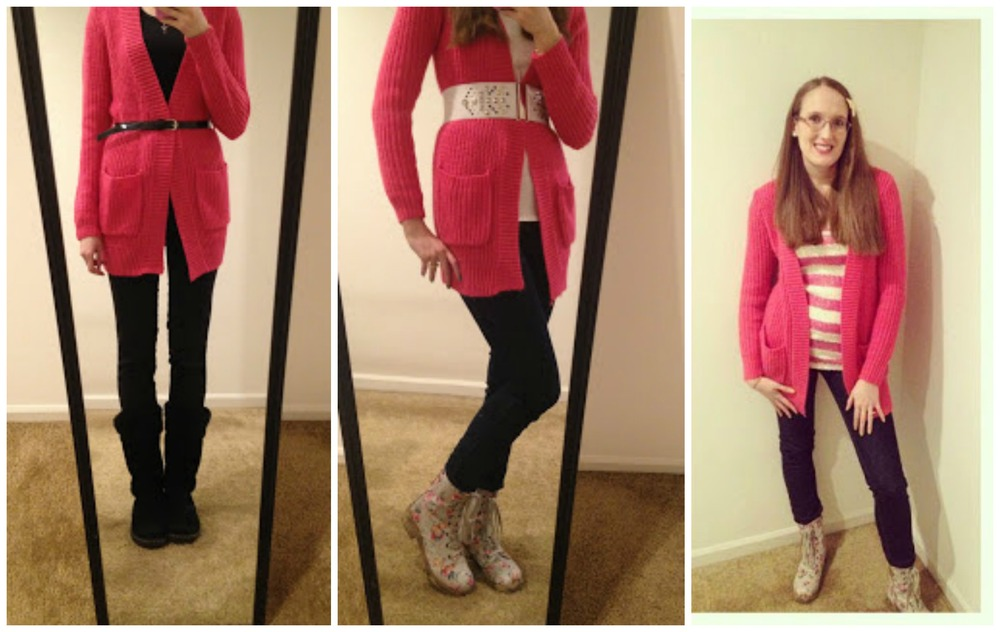 Monthly Remix Recap~ Pink Oversized Cardigan
