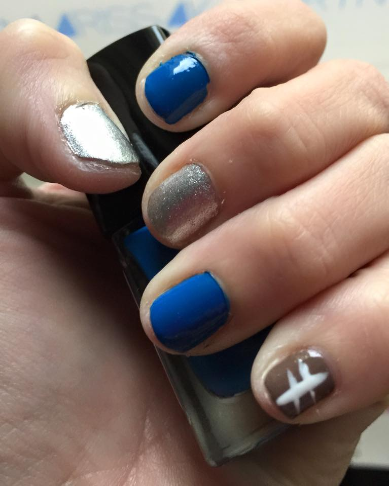 Pinterest Nail Recreation:  Football
