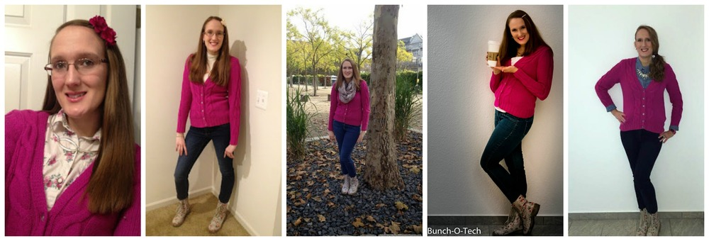 Monthly Remix Recap: Pink Cardigan Sweater