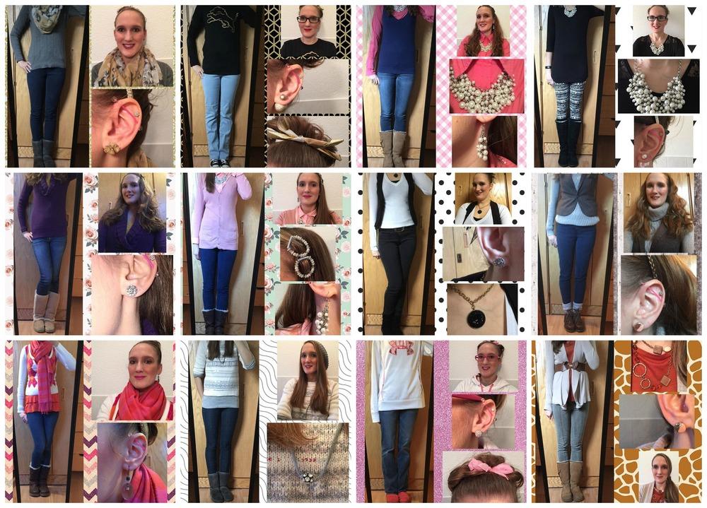 January Outfit Recap