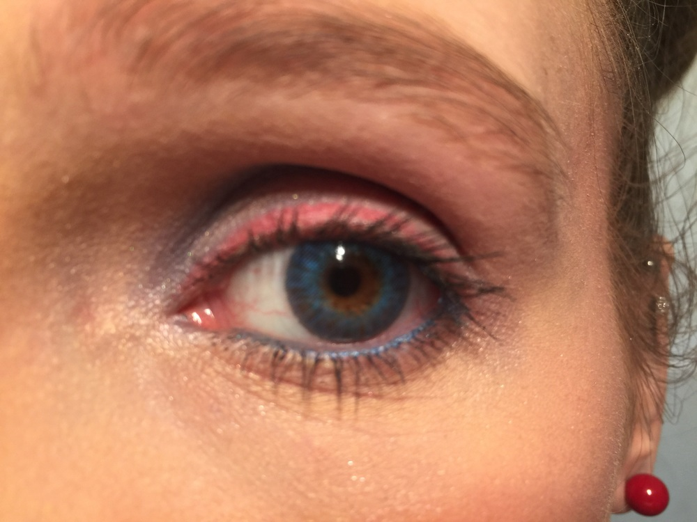 Red, White and Blue Makeup Look