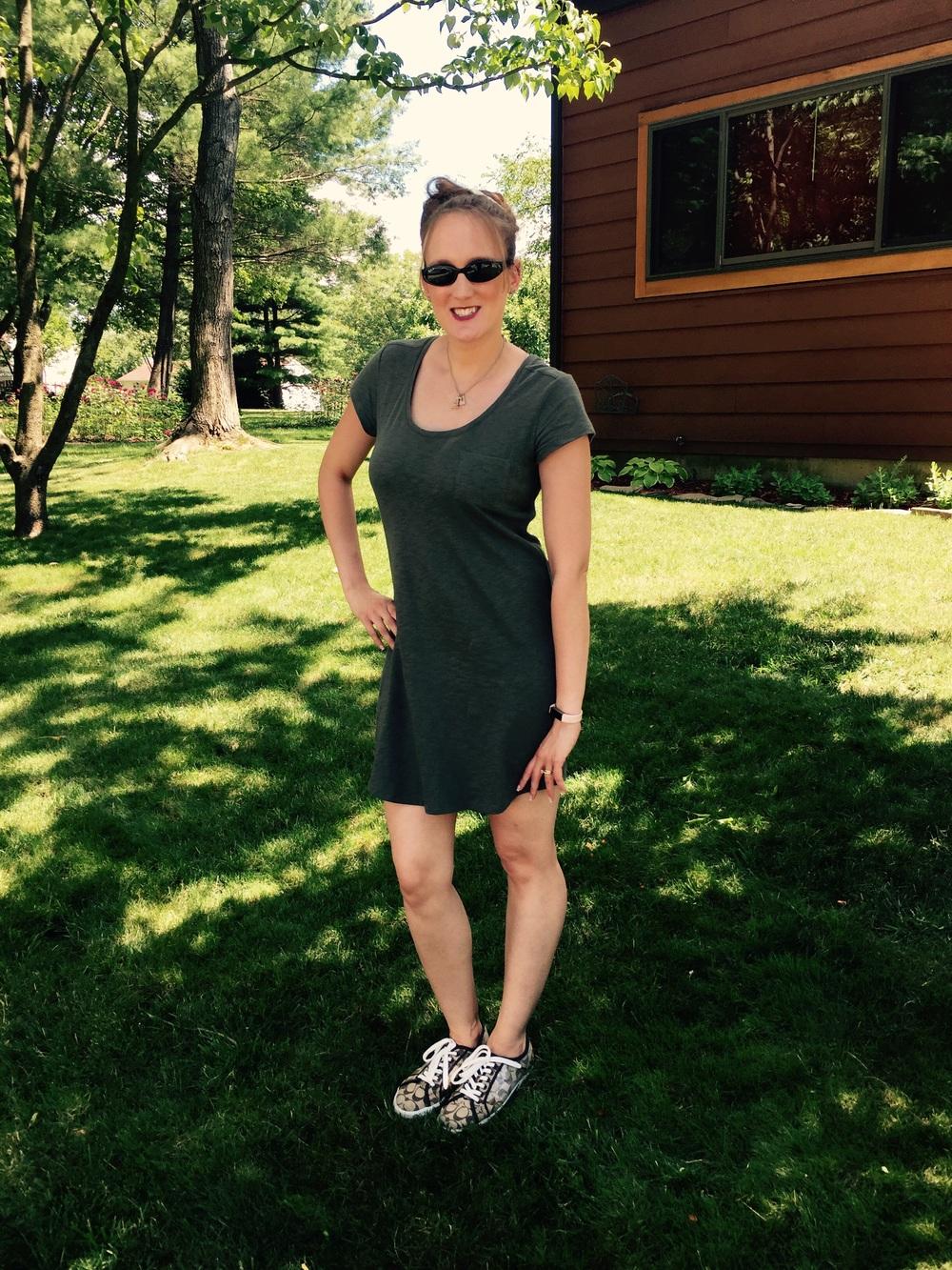 WIWW: Olive T-Shirt Dress