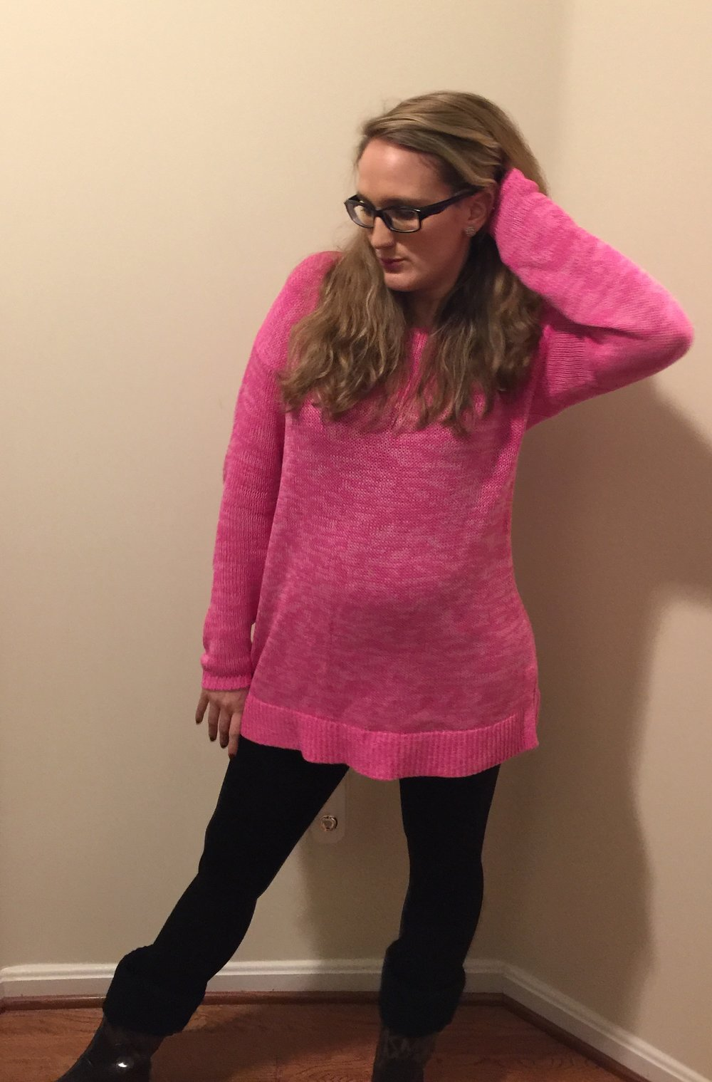 BBCA Day 3: Cozy Pink Sweater