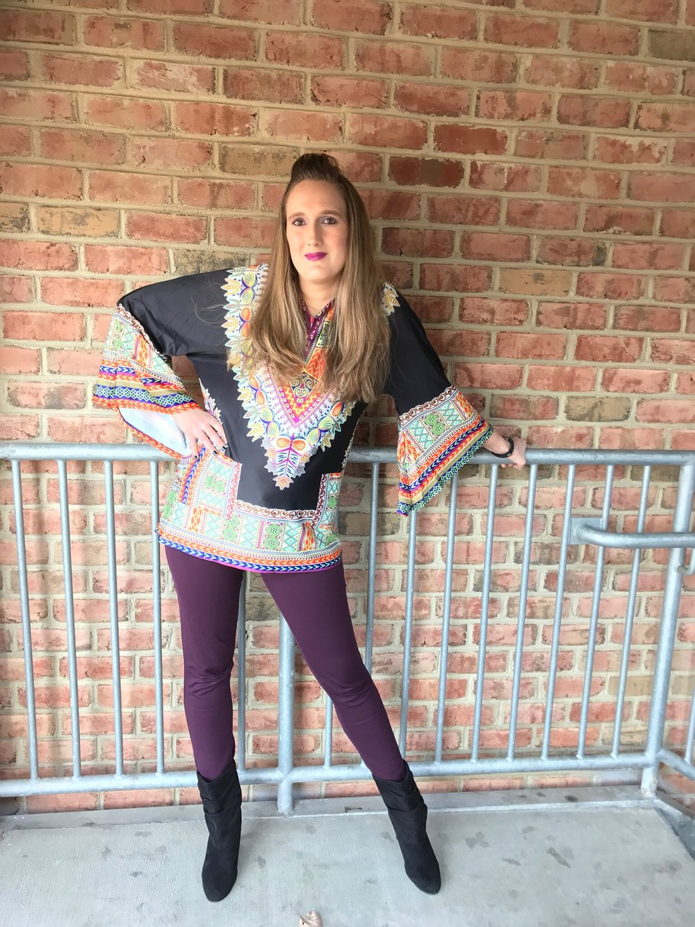 Zaful Review: Digital Print Peasant Top