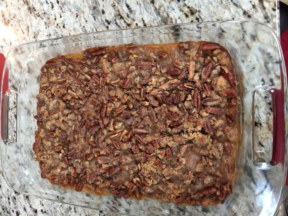 Monthly Recipe: Sweet Potato Casserole