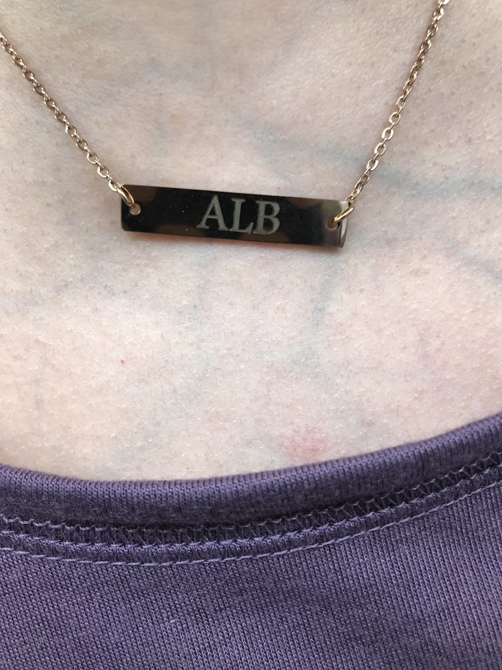 ALB Monogram Necklace
