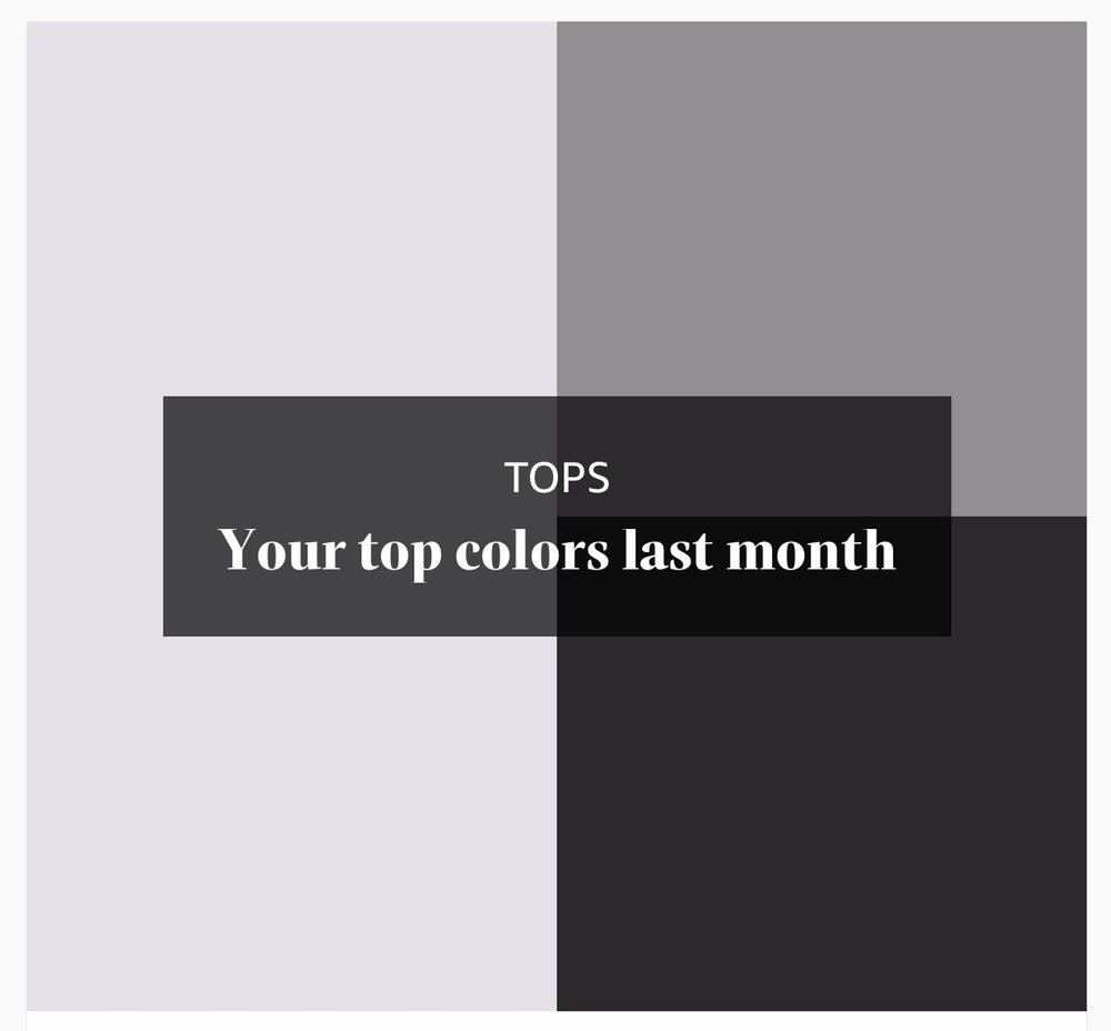 Most Worn Colour For 2018