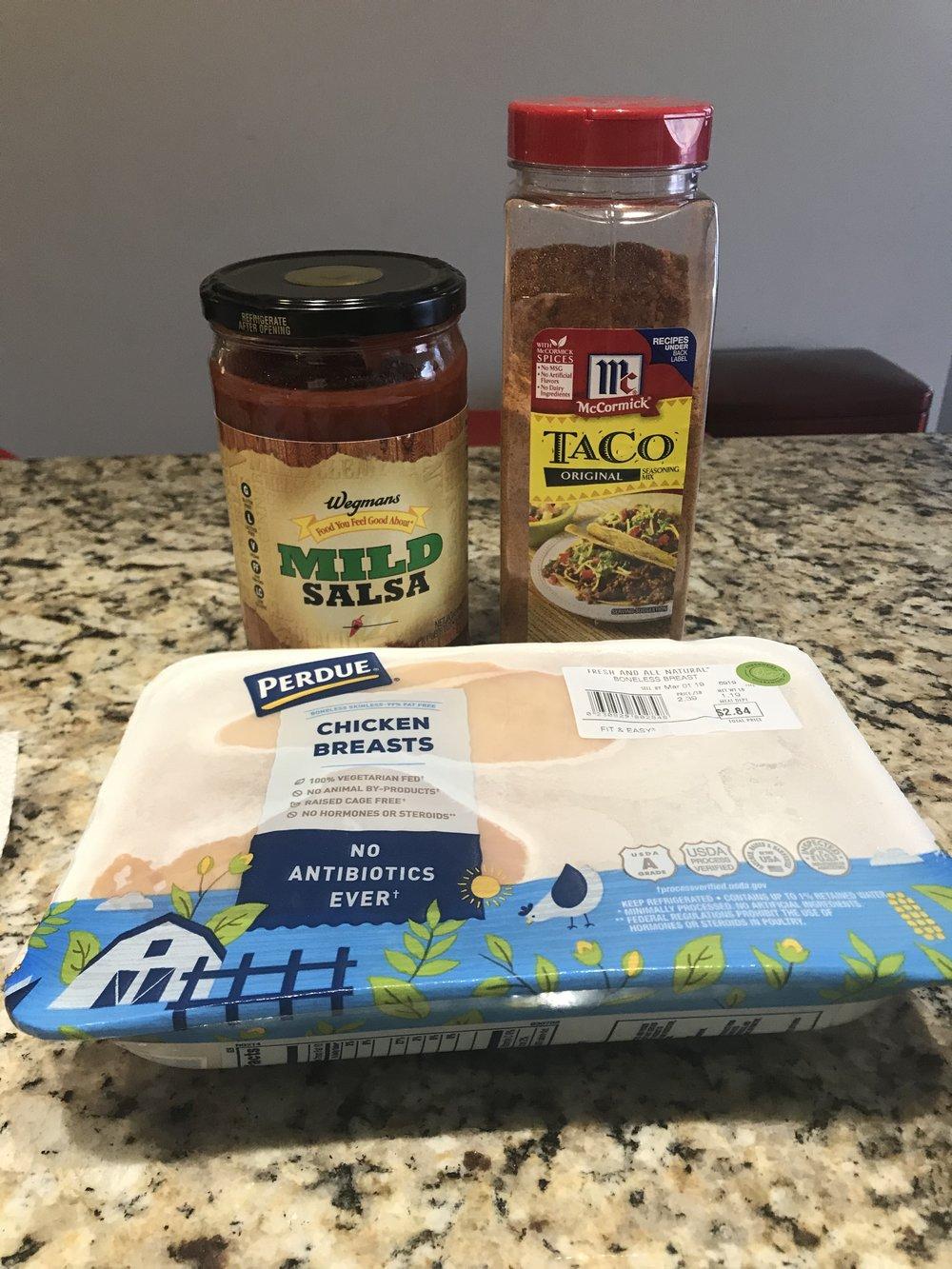 Monthly Recipe: Easy Chicken Taco's