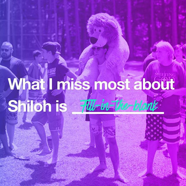 Comment below with what you miss most about camp! #CampShiloh2017 #camplife #ShilohisFamily