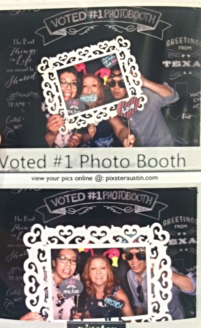 We went to about 18 photo booths. This one was voted #1, among people who vote for photo booths.
