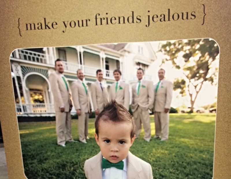 If you don't make your friends jealous this demanding bow tie kid will cut you.