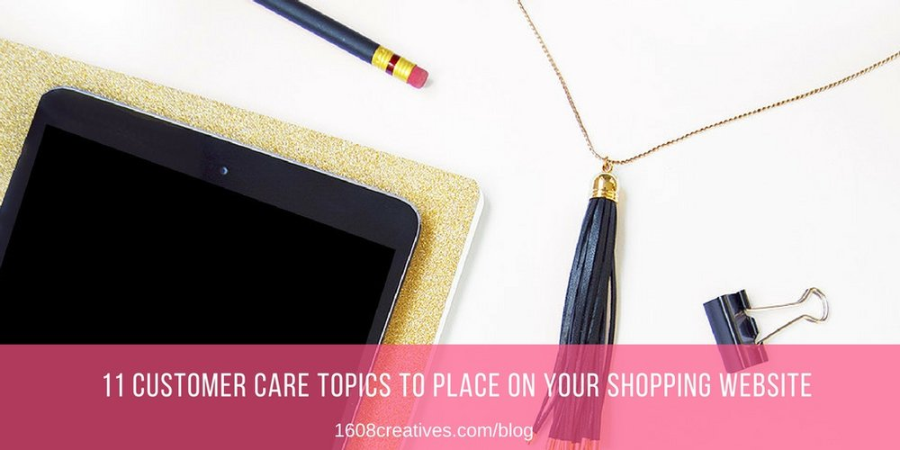 Create Customer Care Information on Your Shopping Website