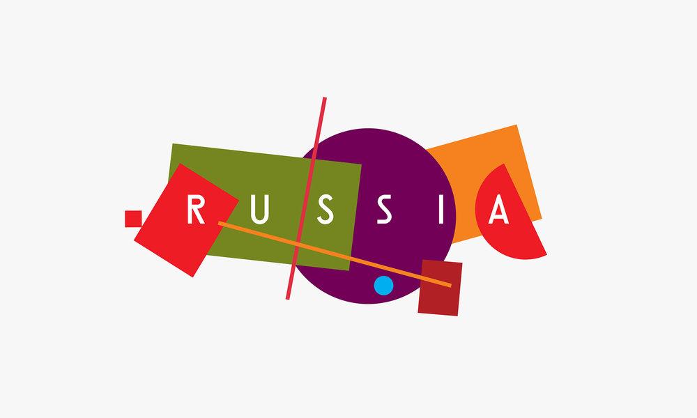 Az Oroszország térképét geometrikus formákká redukáló győztes koncepció megalkotói Vlagyimir Lifanov (Suprematika), Denyisz Sleszberg (Artonika), Ekren Kagarov (Art. Lebedev Studio), valamint Ilja Lazucsenkov és Jegor Misznyik (Plenum) voltak.http://russia-brand.com/