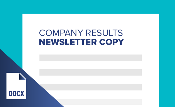 Company Results Newsletter Copy