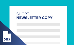 Short Newsletter Copy