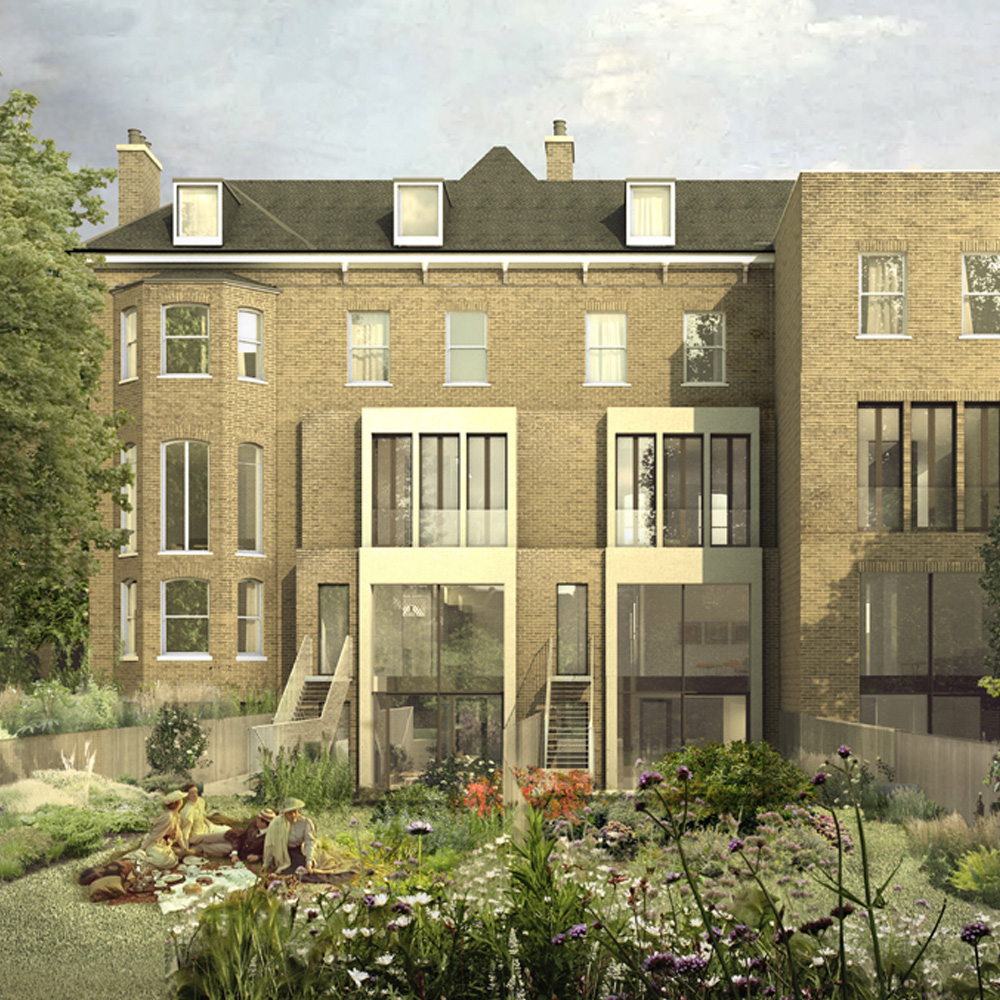 4 family homes, 6 apartments and a converted chapel in South East London