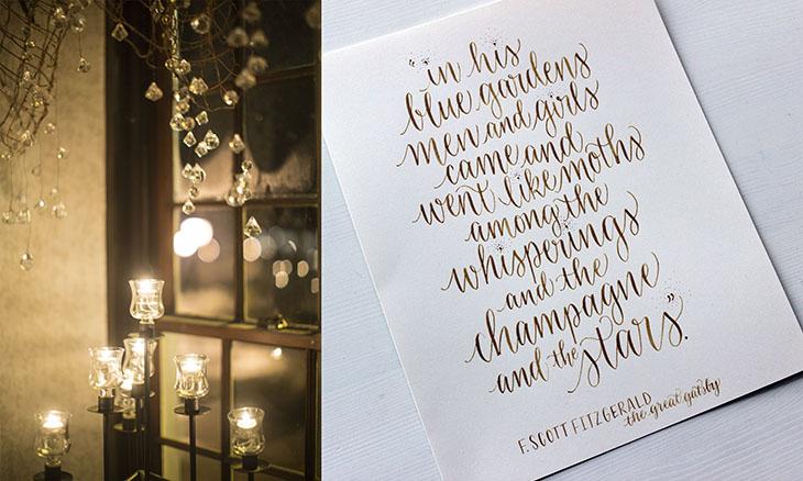 à gauche:Olivia Witzke Photography / à droit: imaginejoy calligraphie
