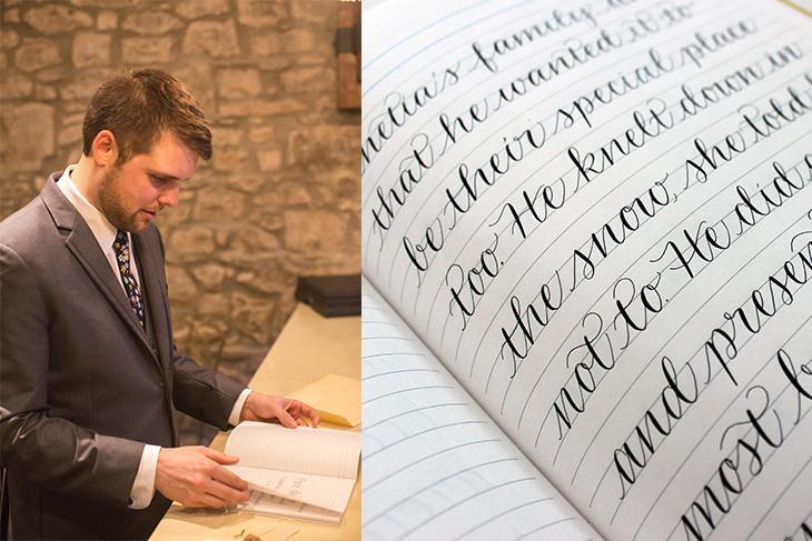 à gauche: Olivia Witzke Photography / à droit: imaginejoy calligraphie
