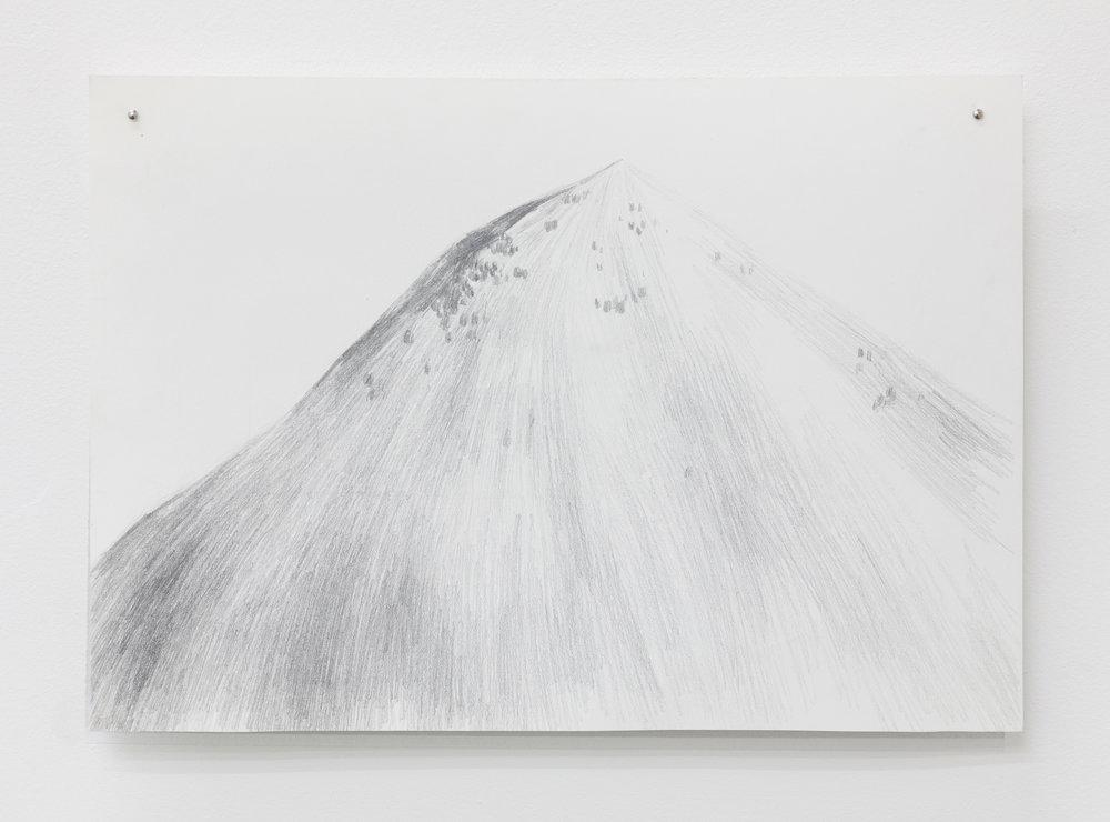 Cima Marana, Graphite drawing on stone paper