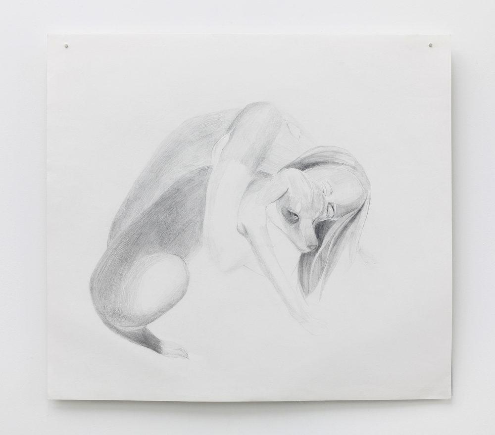Savages die, Graphite drawing on Rosaspina paper