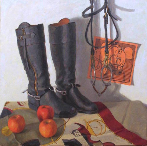 Bridle and Spurs, Oil on Linen, Melissa Hefferlin 2016