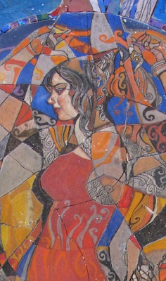 Madame Butterfly (detail) Daud Akhriev, Mosaic 2016