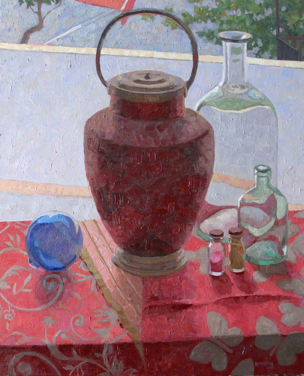In the Window, Hefferlin, Oil on Linen, 24 x 19.5 inches, 2016 yrAvailable at Salmagundi Club