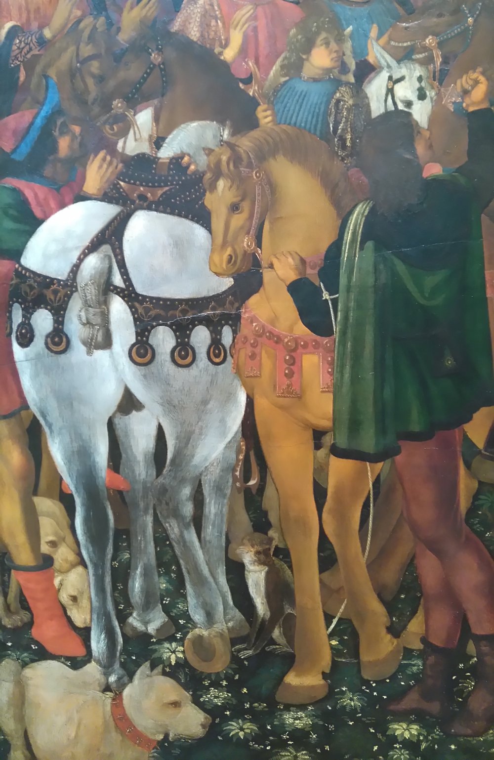 Uccello, detail of horses