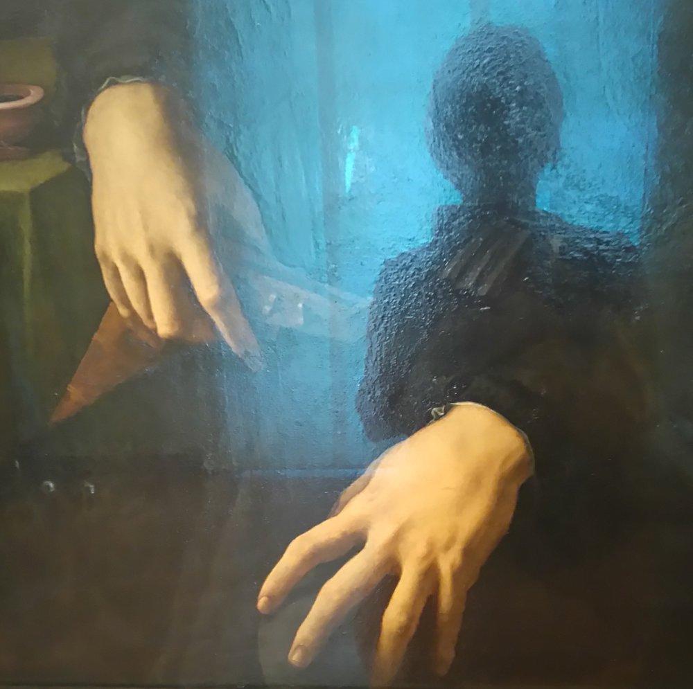 Bronzino hands, Uffizi