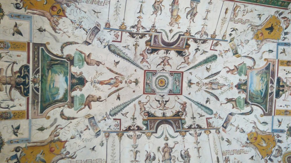 Ceiling at the Uffizi, Florence