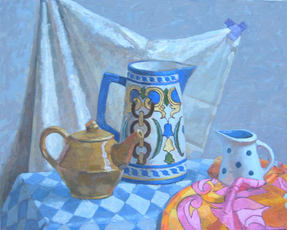 Teapot in Blue and Ochre (2000)