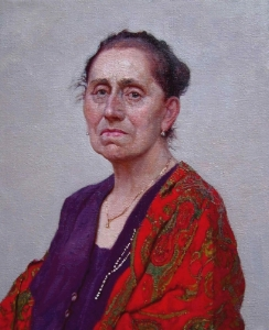 Award-winning Portrait of the Artist's Mother, by Daud Akhriev