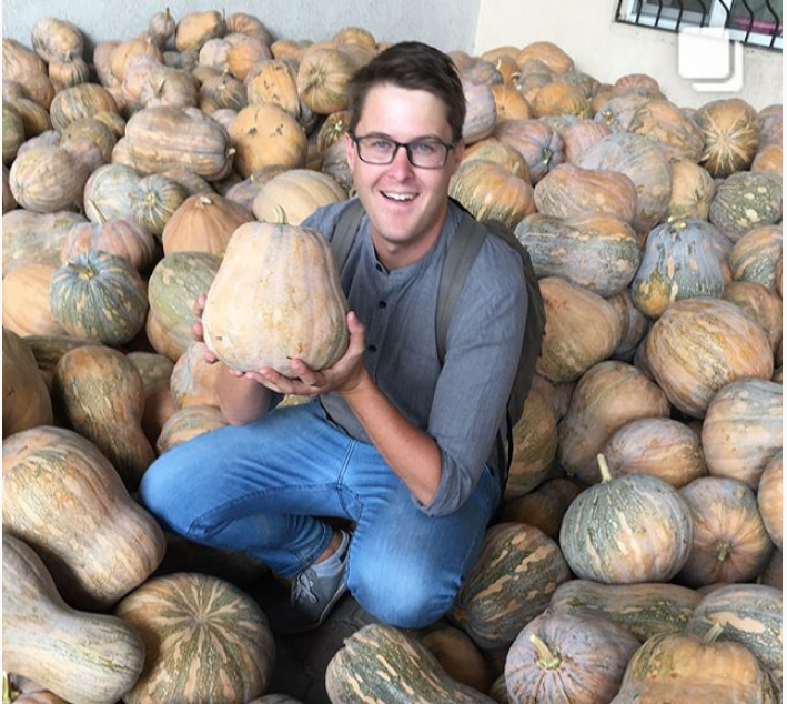 Dennis Keen and pumpkins