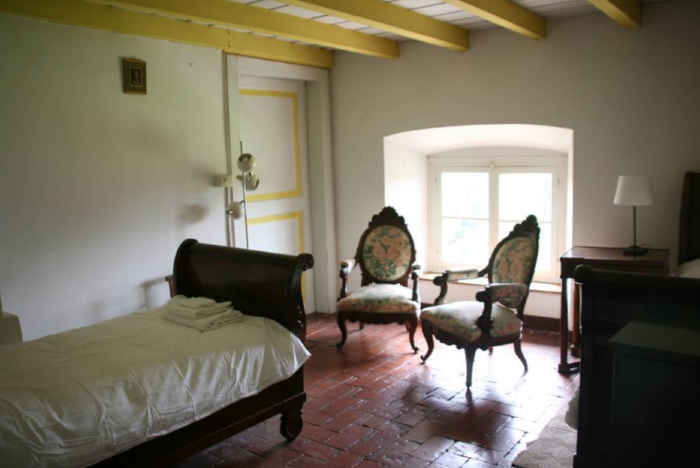 One of the double rooms.