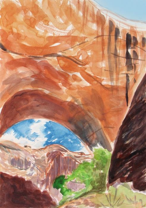 Jacob Hamlin Arch, Watercolor by Janet Morgan