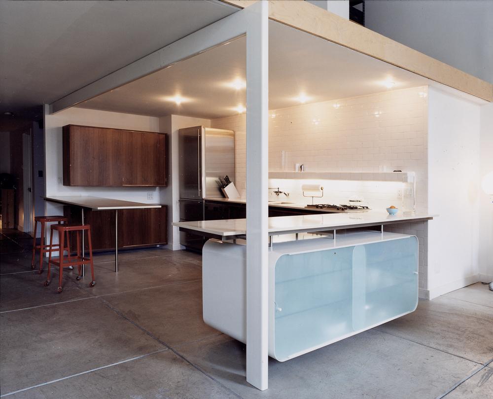 Bon Atlas Industries Interior Design Services Gut Renovation Chinatown Loft  Open Plan Built In Furniture Kitchen