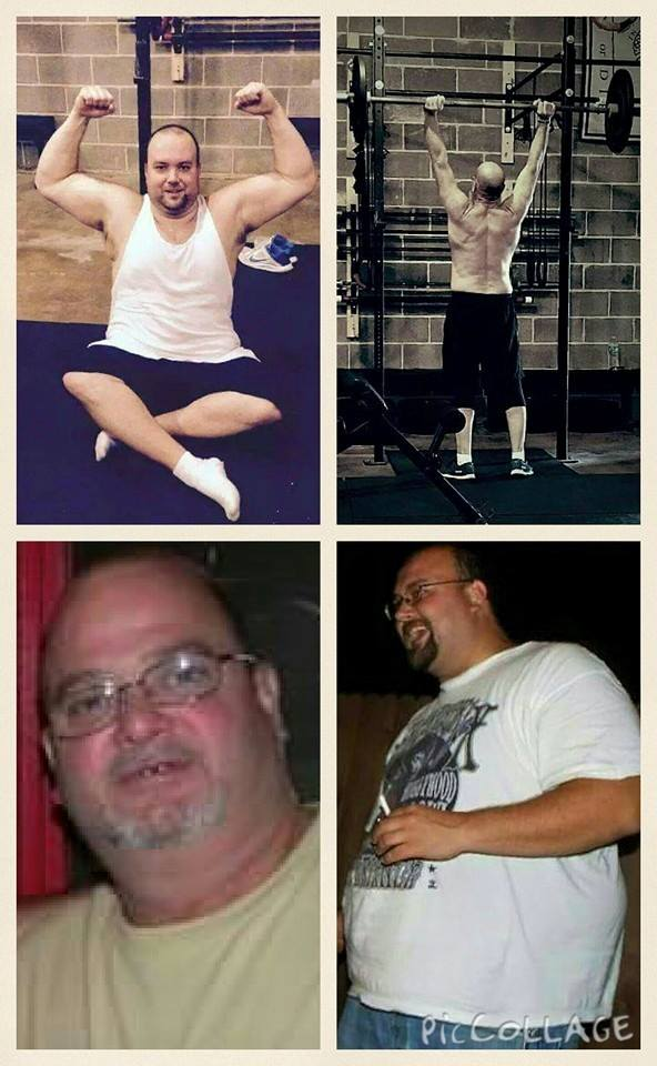 Dad and Son Fitness Journey. Before and After