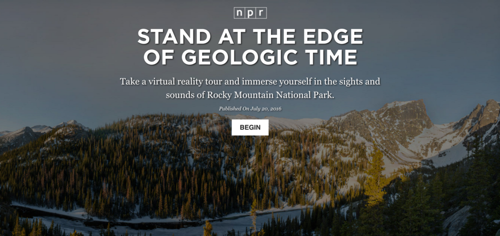Click to begin the Rocky Mountain interactive experience with NPR