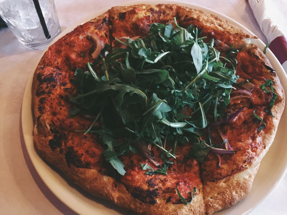 Vegan pizza anyone?    Luigi's    has some kickass options – TRY THE DOUGH KNOTS!