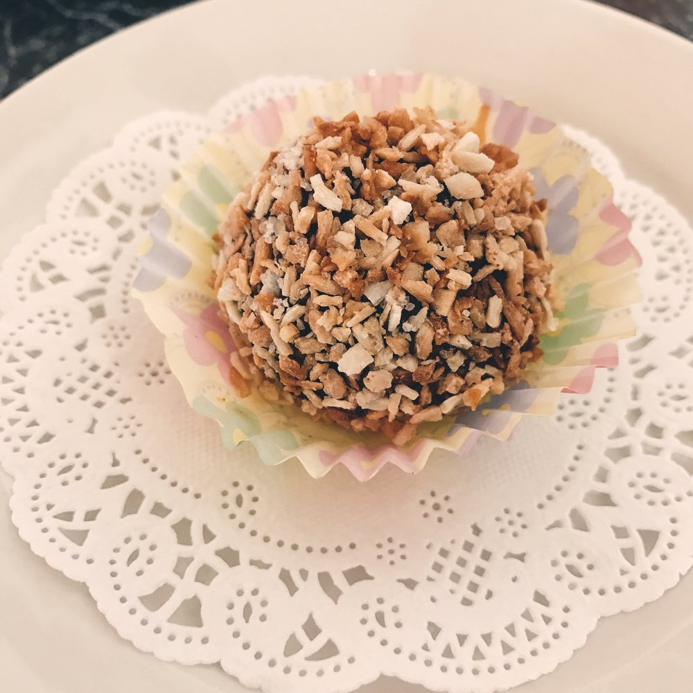 Chocolate Truffle dusted with Coconut Flakes
