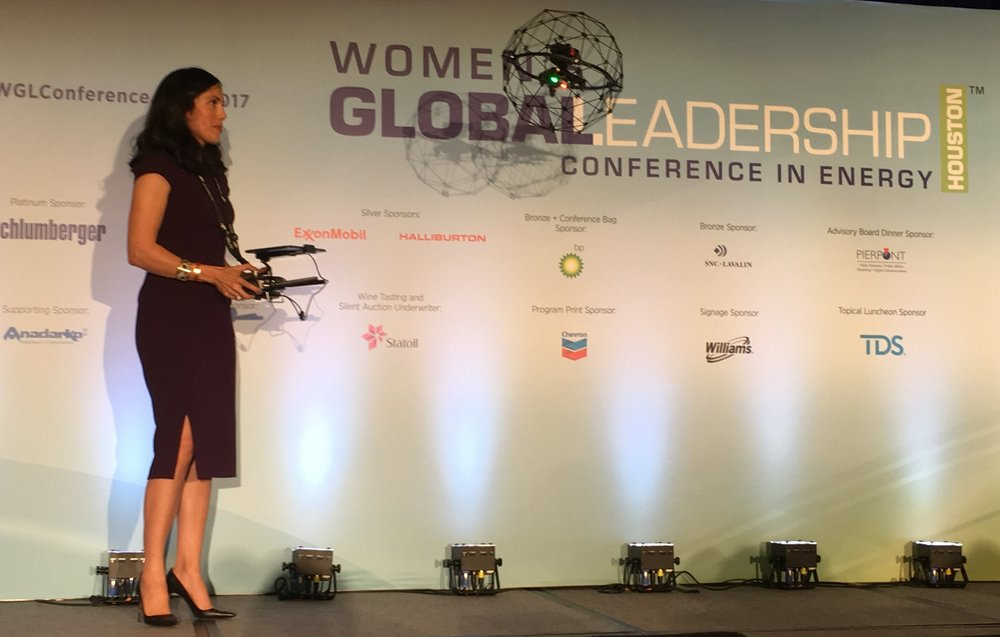 Performing a STEM demo with BP, Dyan flew at the Women's Global Leadership Conference in Energy