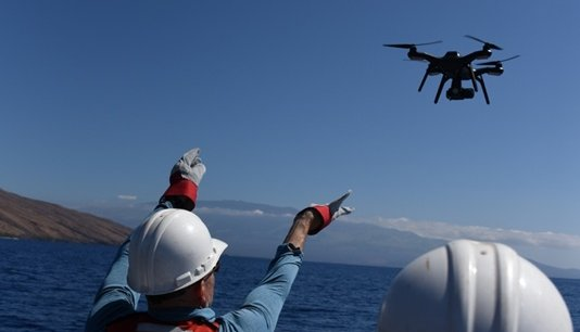 In 2015, Trumbull supported humpback whale research with NOAA in Hawaii. Trumbull flew multirotors to see how drones could help identify and/or prevent whale entanglement.