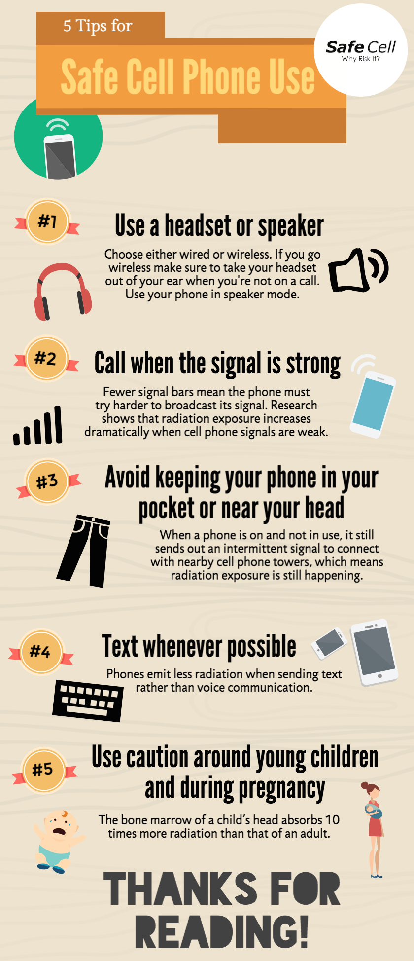 5 Tips for Safe Cell Phone Use