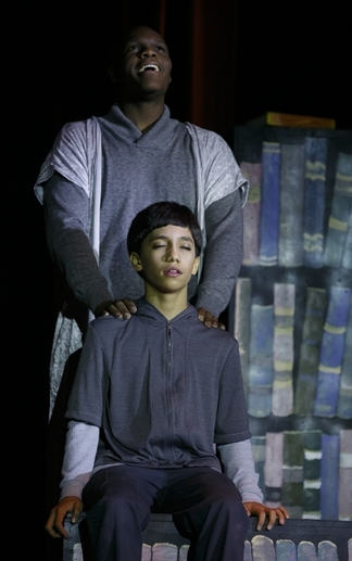 "Auntais Faulkner and James Apisai in ""The Giver,"" DRT, November 2015"