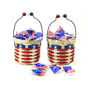 If you are in the area of the St. Andrews Episcopal Church this Saturday, June 17th, stop in to see us weave a cute candy basket in patriotic colors.